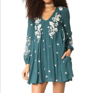 NWT Free People Embroidered Dress